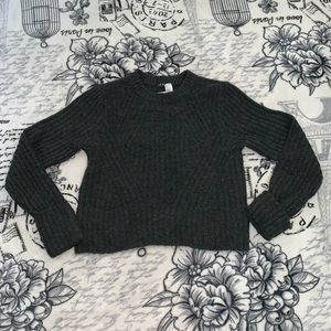 Divided Gray Sweater Size S